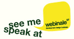 see me speak at webinale